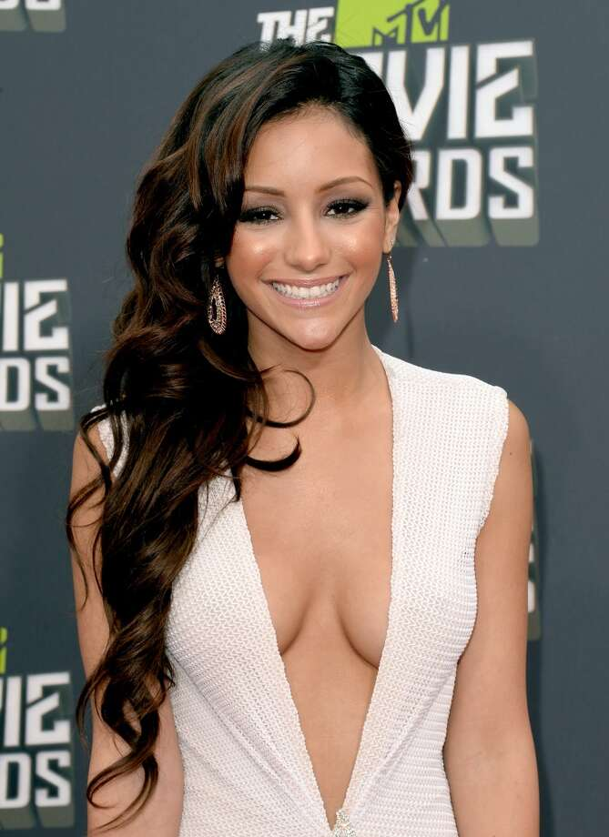 CULVER CITY, CA - APRIL 14:  TV personality Melanie Iglesias arrives at the 2013 MTV Movie Awards at Sony Pictures Studios on April 14, 2013 in Culver City, California.  (Photo by Jason Merritt/Getty Images)