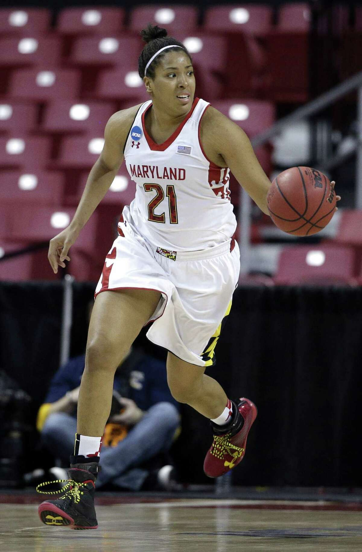 Maryland's Tianna Hawkins could be an option if the Silver Stars go for size.