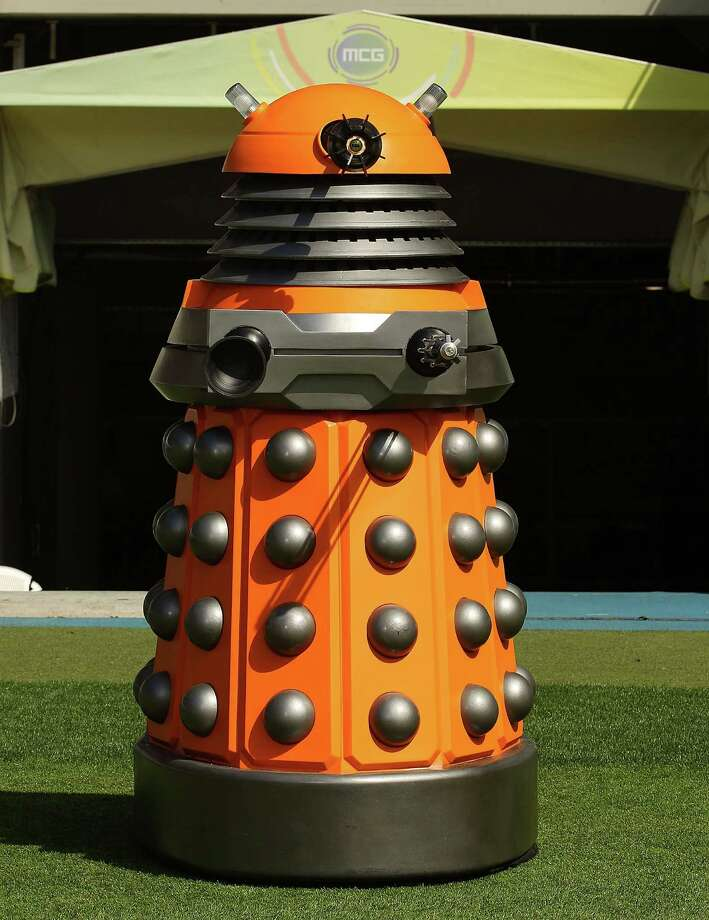 "Crystal Shedrock: ""An orange Dalek (a member of the race of evil aliens in shells that look like giant salt shakers in 'Doctor Who,' the British science fiction television series). Because that's (one of) our colors for the group; we're black and orange."" Photo: Scott Barbour / Getty Images / 2012 Getty Images"