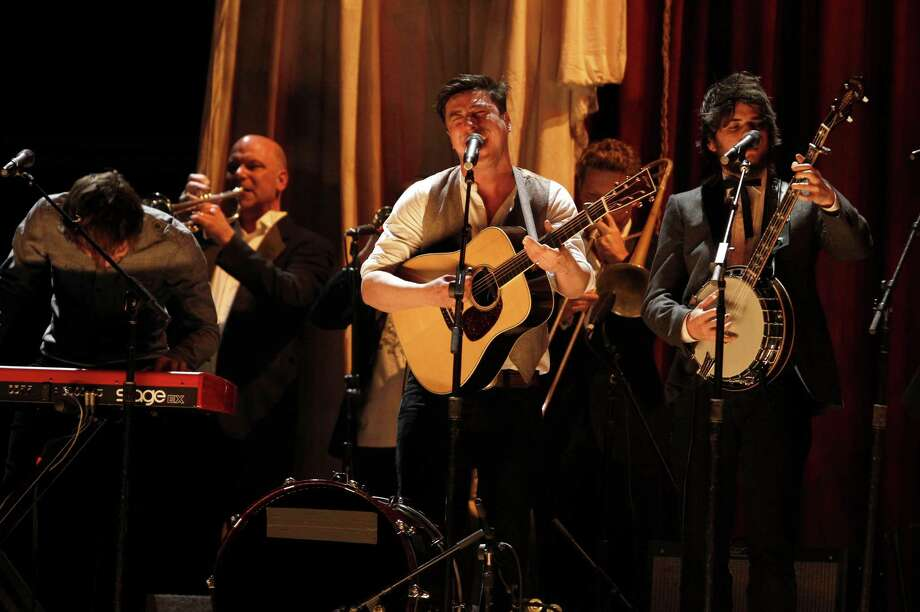 """Joe Treviño: """"You know I'm crazy about recording gear. But I might take mama (wife Kim Treviño) to go see Mumford & Sons in Austin in June.""""  PHOTO: Mumford & Sons perform at the Grammy Awards in 2011 in Los Angeles. Photo: Matt Sayles / Associated Press. / AP"""