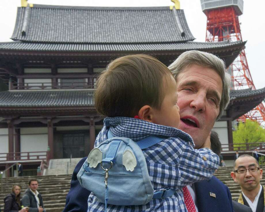 U.S. Secretary of State John Kerry, during his visit to Japan, said North Korea must take the first steps to abandon its nuclear weapons program. Photo: Paul J. Richards, POOL / POOL AFP