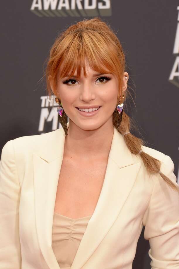 CULVER CITY, CA - APRIL 14:  Actress Bella Thorne arrives at the 2013 MTV Movie Awards at Sony Pictures Studios on April 14, 2013 in Culver City, California.  (Photo by Jason Merritt/Getty Images)