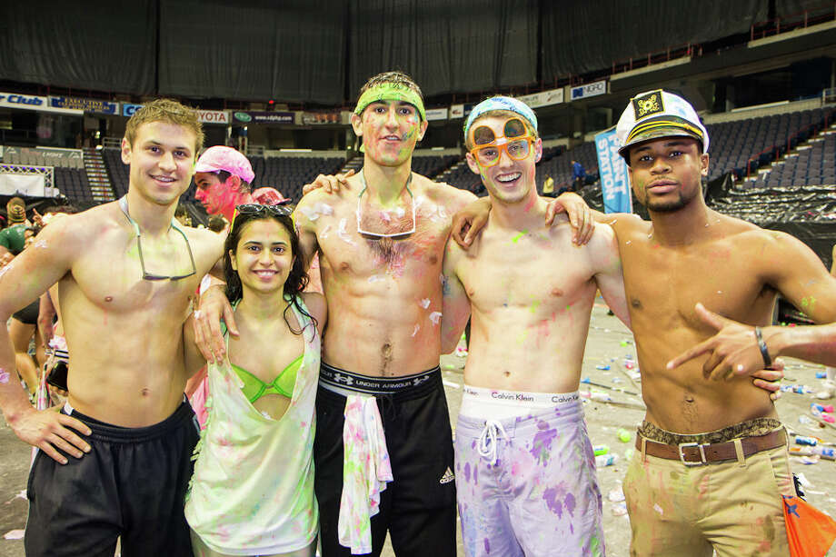"""Were you Seen at the Life in Color """"World's Largest Paint Party"""" at the Times Union Center in Albany on Friday, April 12, 2013? Photo: Brian Tromans"""