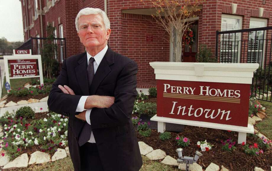 Bob Perry, who came from humble beginnings in rural Bosque County, was a teacher before he  founded Perry Homes in 1967. Photo: Melissa Phillip, Staff / Houston Chronicle