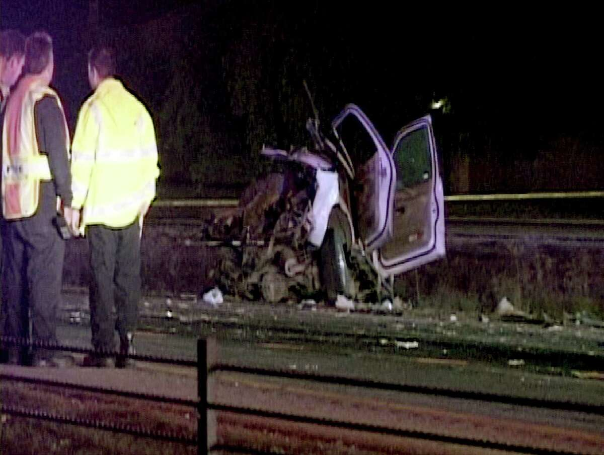 The driver of a semi was jailed on intoxication manslaughter charges after the truck, going the wrong way on U.S. 90 near Loop 1604, hit an SUV, four of whose five occupants died.