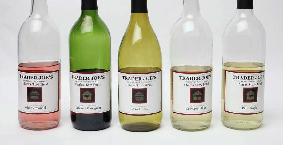 "1,006 bottles of Trader Joe's Charles Shaw wine, aka ""Two Buck Chuck"" ($2.98) PHOTO: Trader Joe's Wines (from left): Charles Shaw 2011 Zinfandel, 2011 Cabernet Sauvignon, 2011 Chardonnay, 2011 Sauvignon Blanc and 2011 Pinot Grigio. Photo: Juanito M. Garza, San Antonio Express-News / San Antonio Express-News"