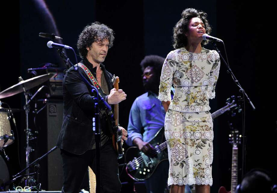 Musician Doyle Bramhall II, left, and singer Alice Smith perform at Eric Clapton's Crossroads Guitar Festival 2013 at Madison Square Garden on Friday April 12, 2013 in New York. (Photo by Evan Agostini/Invision for Hard Rock International/AP Images) Photo: Evan Agostini, Evan Agostini/Invision/AP / Invision