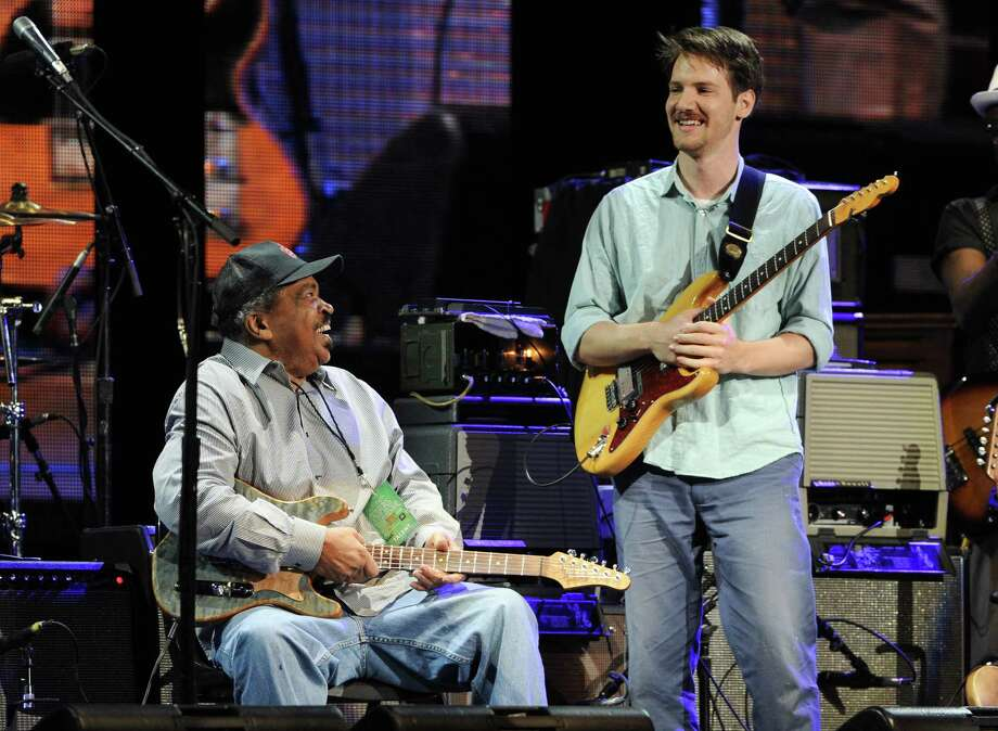 "Musicians Matt ""Guitar"" Murphy, left, and Blake Mills perform at Eric Clapton's Crossroads Guitar Festival 2013 at Madison Square Garden on Friday April 12, 2013 in New York. (Photo by Evan Agostini/Invision for Hard Rock International/AP Images) Photo: Evan Agostini, Evan Agostini/Invision/AP / Invision"