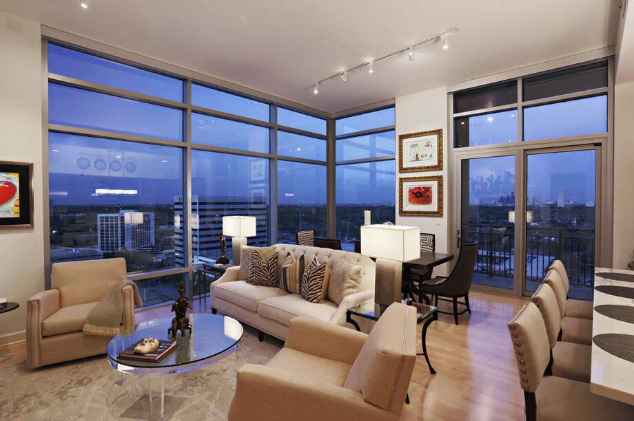 This penthouse suite offers gorgeous views of downtown Houston. It'll cost you just over a million though.Database: Search for your neighborhood Photo: Heritage Texas Properties