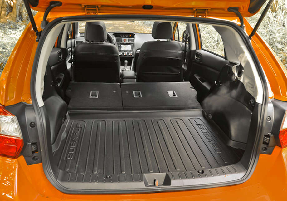 The Crosstrek has a 60/40 split second row seat, not uncommon these days, and a rubberized floor mat.