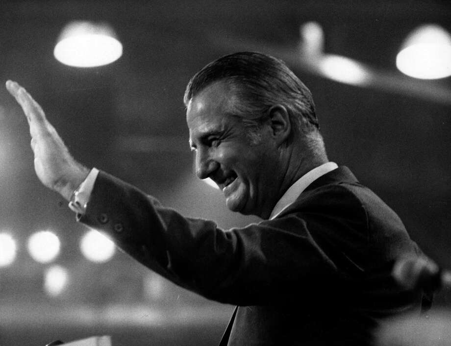 Vice-President Spiro Agnew resigned and plead guilty to criminal tax evasion in 1973, he was also accused of accepting up to $100,000 in bribes when he was the governor of Maryland. Photo: Keystone, Getty Images / Hulton Archive