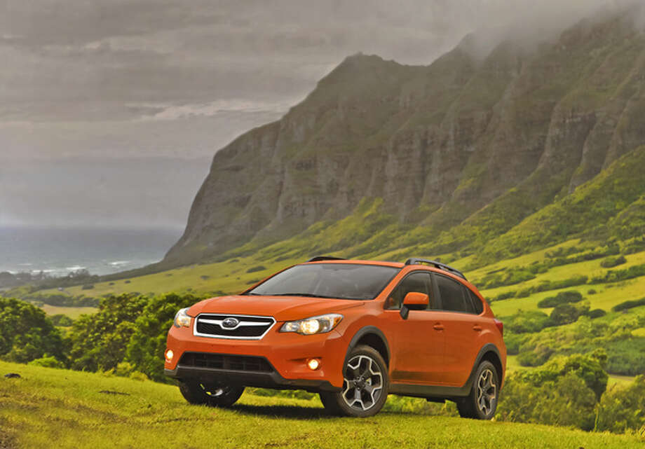 Unlike Henry Ford\'s Model T, this Subaru will come in any color you like. We liked the Tangerine Orange Pearl. (All photos: Subaru of America)