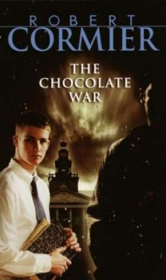 """The Chocolate War"" by Robert Cormier – On the American Library Association's list of frequently challenged books, it ranked No. 10 in 2009, No. 2 in 2007, No. 10 in 2006, No. 4 in 2005, No. 1 in 2004, No. 3 in 2002 and No. 3 in 2001 – Some complain the book contains nudity, offensive language and sexually explicit content. Also making the top 10 in 2003 was Cormier's ""We All Fall Down."""