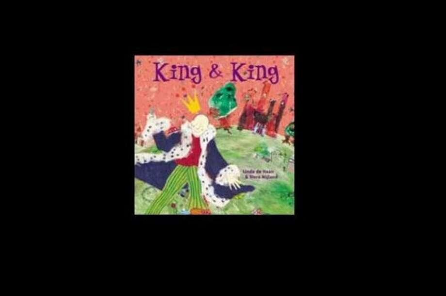 """King & King"" by Linda deHaan – On the American Library Association's list of frequently challenged books, it ranked No. 8 in 2004, No. 9 in 2003, – Some complain this book refers to homosexuality."