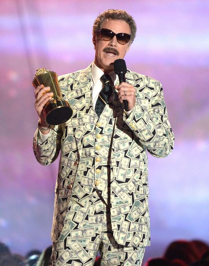 CULVER CITY, CA - APRIL 14:  Actor Will Ferrell accepts the Comedic Genius Award onstage during the 2013 MTV Movie Awards at Sony Pictures Studios on April 14, 2013 in Culver City, California.  (Photo by Kevork Djansezian/Getty Images)