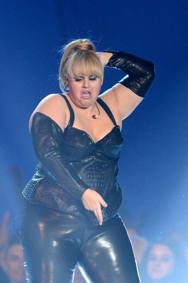 CULVER CITY, CA - APRIL 14:  Host Rebel Wilson performs onstage during the 2013 MTV Movie Awards at Sony Pictures Studios on April 14, 2013 in Culver City, California.  (Photo by Kevork Djansezian/Getty Images)
