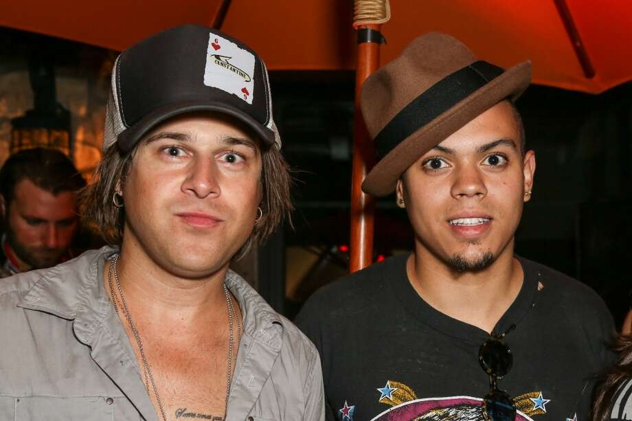 LA QUINTA, CA - APRIL 12:  Singer Ryan Cabrera (L) and actor / musician Evan Ross attend the DIESEL + EDUN Studio Africa Event At Indio Valley With Rolling Stone Rock Room at Tally Horse Ranch on April 12, 2013 in La Quinta, California.  (Photo by Chelsea Lauren/Getty Images for DIESEL)
