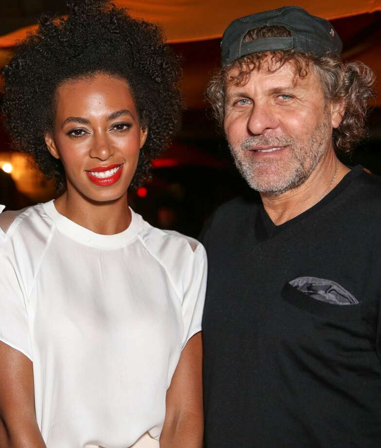 LA QUINTA, CA - APRIL 12:  Singer Solange (L) and president of Diesel Renzo Rosso attend the DIESEL + EDUN Studio Africa Event At Indio Valley With Rolling Stone Rock Room at Tally Horse Ranch on April 12, 2013 in La Quinta, California.  (Photo by Chelsea Lauren/Getty Images for DIESEL)