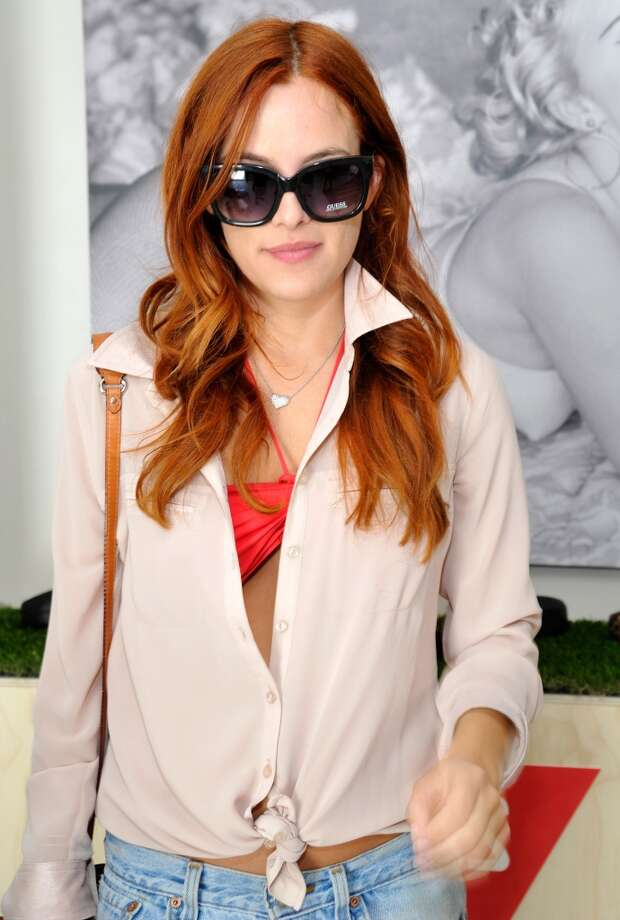 PALM SPRINGS, CA - APRIL 14:  Riley Keough attends the GUESS Hotel pool party at the Viceroy Palm Springs on April 14, 2013 in Palm Springs, California.  (Photo by John Sciulli/Getty Images for GUESS)