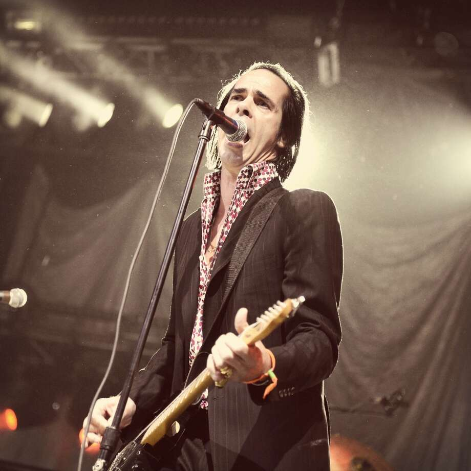 INDIO, CA - APRIL 12:  (EDITORS NOTE: THIS IMAGE HAS BEEN DIGITALLY MANIPULATED) Musician Nick Cave of Grinderman performs onstage during day 1 of the 2013 Coachella Valley Music & Arts Festival at the Empire Polo Club on April 12, 2013 in Indio, California.  (Photo by Jason Kempin/Getty Images for Coachella)