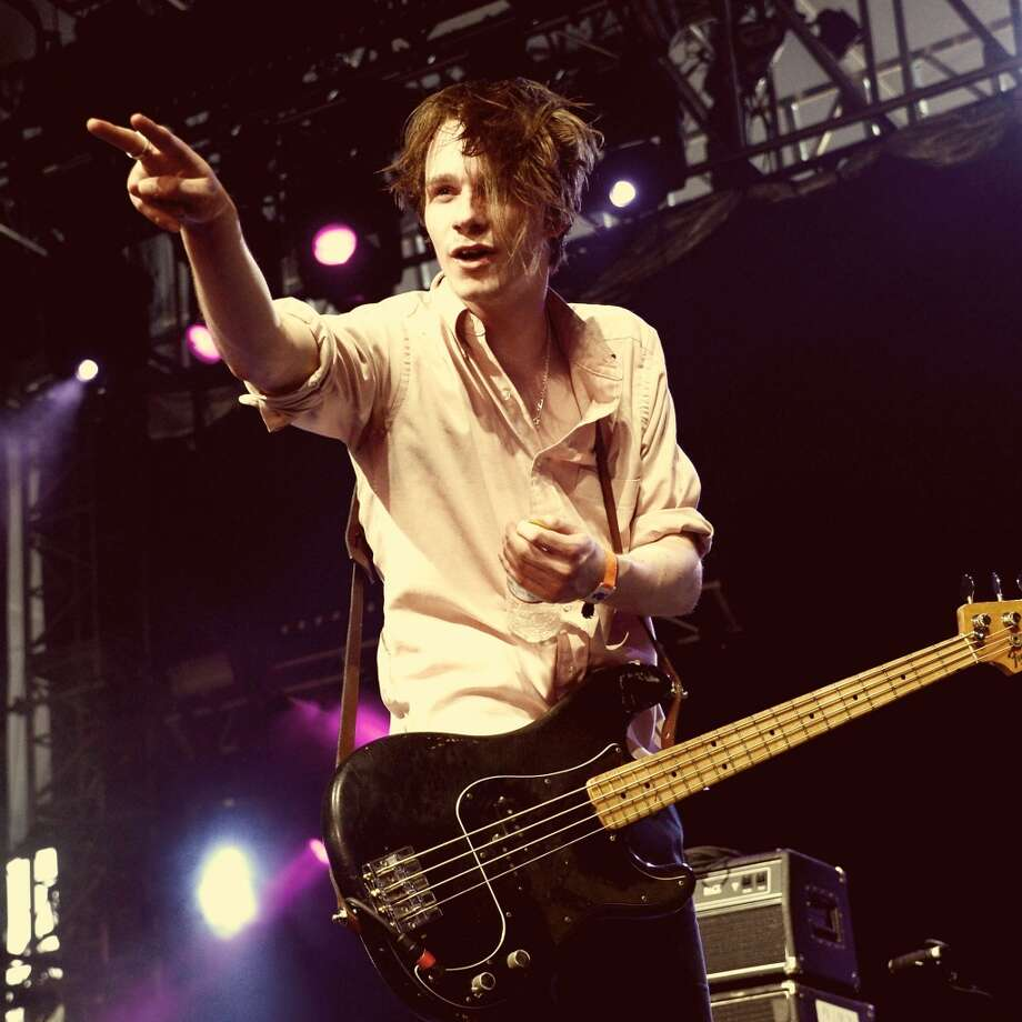 "INDIO, CA - APRIL 12:  (EDITORS NOTE: THIS IMAGE HAS BEEN DIGITALLY MANIPULATED) Musician Alexander ""Chilli"" Jesson of Palma Violets performs onstage during day 1 of the 2013 Coachella Valley Music & Arts Festival at the Empire Polo Club on April 12, 2013 in Indio, California.  (Photo by Jason Kempin/Getty Images for Coachella)"