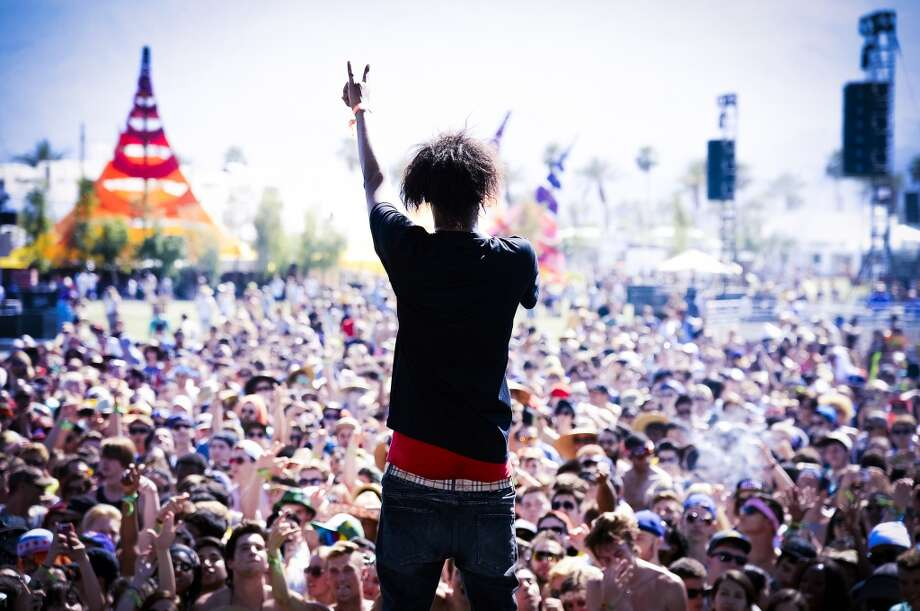 INDIO, CA - APRIL 13:  (EDITORS NOTE: THIS IMAGE HAS BEEN DIGITALLY MANIPULATED) Rapper Danny Brown performs onstage during day 2 of the 2013 Coachella Valley Music And Arts Festival  at The Empire Polo Club on April 13, 2013 in Indio, California.  (Photo by Frazer Harrison/Getty Images for Coachella)