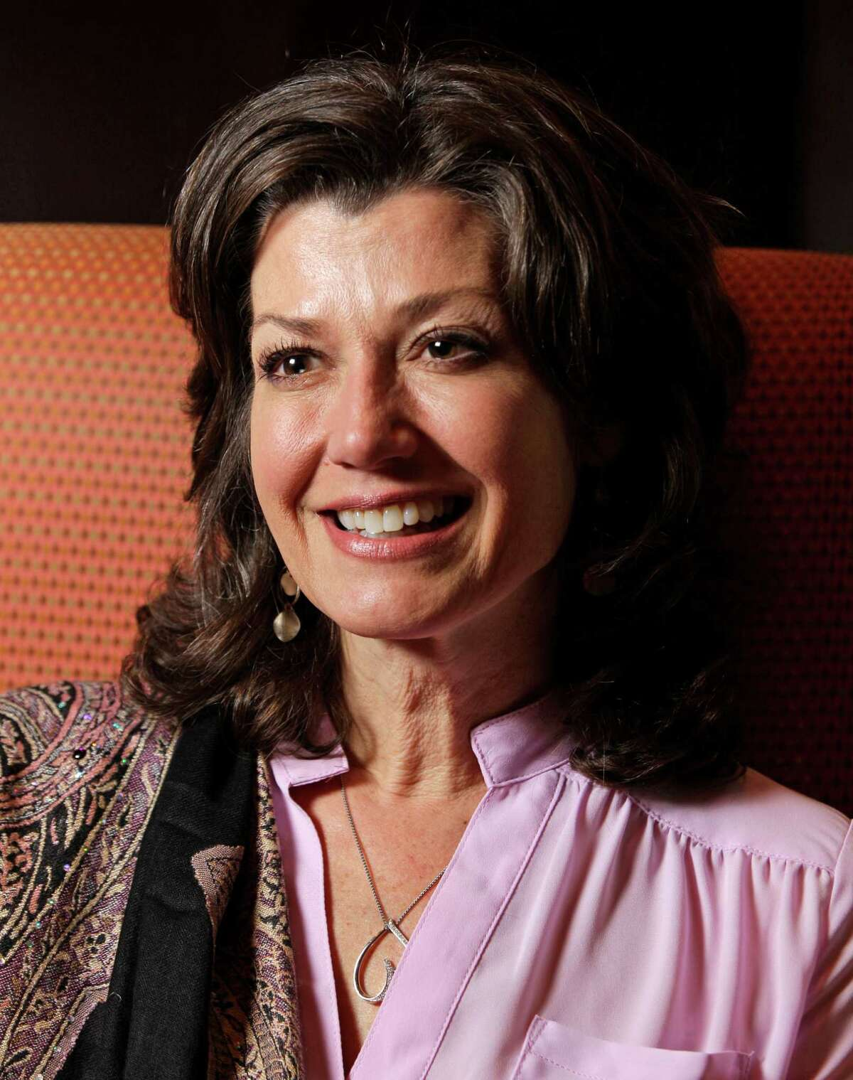 Amy Grant speaks during media interview at the Hilton America, 1600 Lamar, Monday, April 8, 2013, in Houston. ( Melissa Phillip / Houston Chronicle )