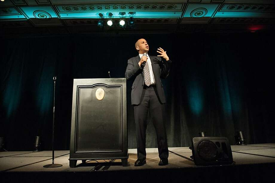 Cory Booker speaks during the Big Brothers Big Sisters of the Bay Area Big Event Gala on April 12, 2013. Photo: Drew Altizer Photography