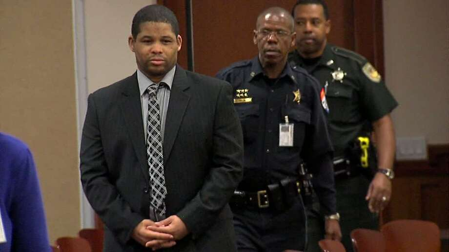 Bartholomew Granger enters a Galveston County courtroom on April 2 for jury selection in his capital murder trial. Granger is accused of killing one woman and injuring three others during a March 2012 shooting at the Jefferson County Courthouse. Chase Connor/12News