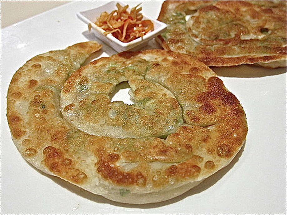 Scallion pancake at E-Tao in the Galleria.