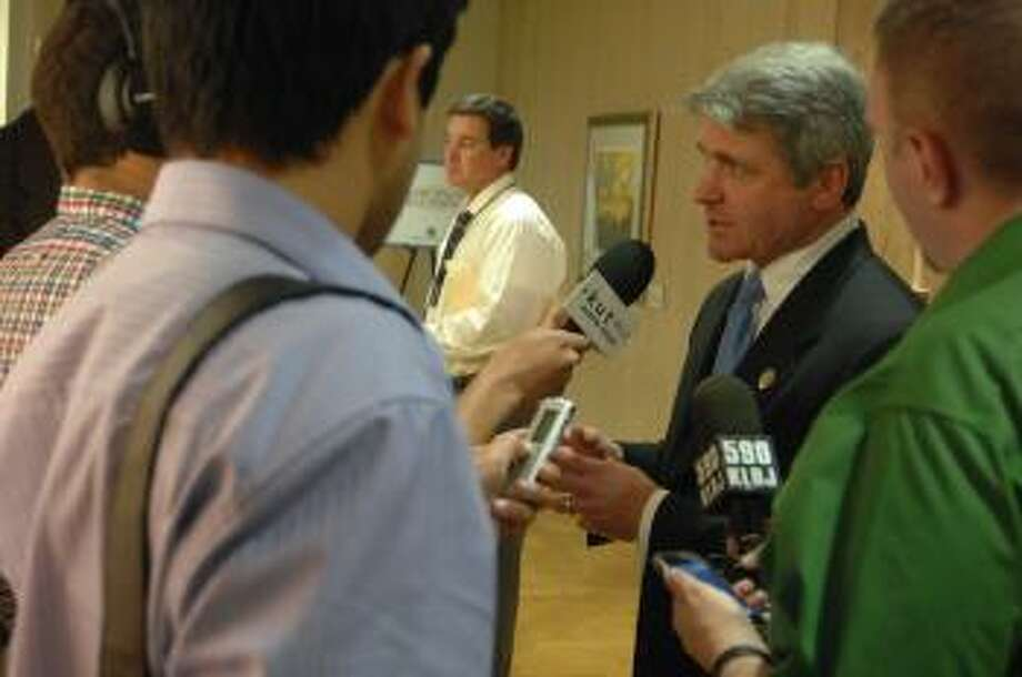 McCaul Answering Questions From Press After Global Security Summit Photo: Congressional Photo