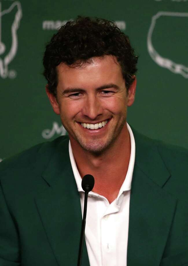AUGUSTA, GA - APRIL 14:  Adam Scott of Australia addresses the media as he enters the news conference after Scott won the 2013 Masters Tournament at Augusta National Golf Club on April 14, 2013 in Augusta, Georgia.  (Photo by Andrew Redington/Getty Images) Photo: Andrew Redington