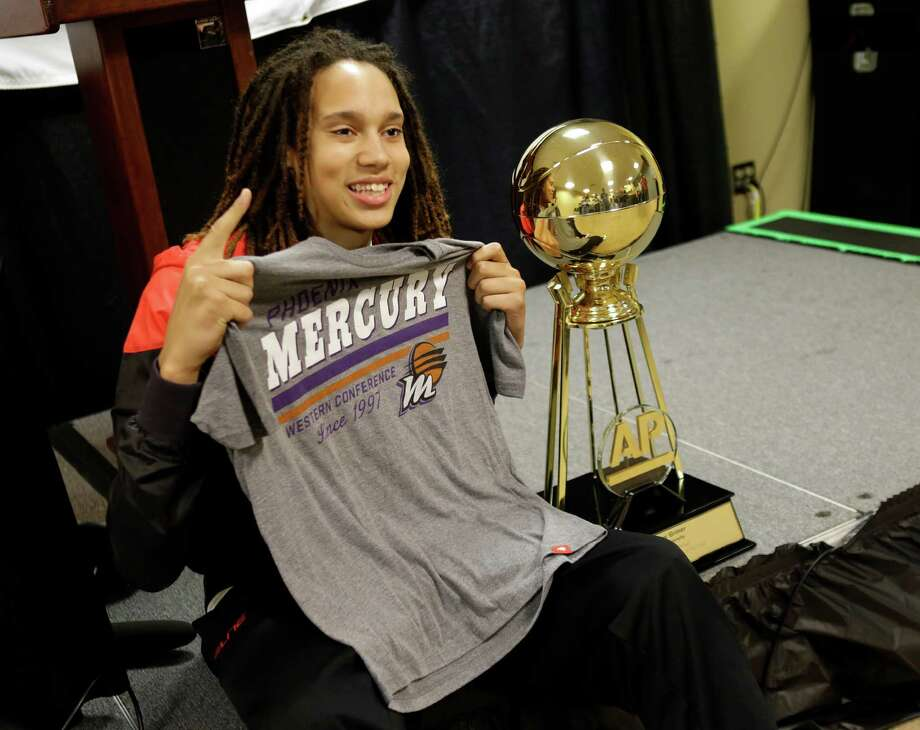 Baylor 's Brittney Griner is taking her talents to the WNBA's Phoenix Mercury. (AP Photo/Gerald Herbert) Photo: Gerald Herbert, Associated Press / AP