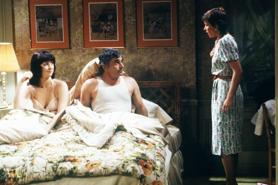 Jennifer Salt, Diana Canova and Donnelly Rhodes ... in bed.
