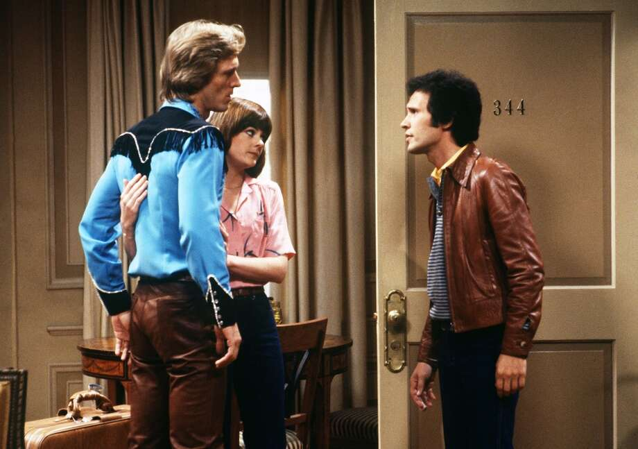 Episode 64 - Season Three - 2/7/80 Carol (Rebecca Balding) told Jodie (Billy Crystal, right) that she wanted custody of Wendy. Ted Shackelford (R.C.) guest-starred.