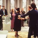Episode 28 - Season Two - 9/28/78 Mrs. Flotsky (guest star Doris Roberts, center)causes a scene at Tim (Sal Viscuso) and Corrine\'s (Diana Canova) wedding. Ted Wass (Danny), Cathryn Damon (Mary), Richard Mulligan (Burt), Katherine Helmond (Jessica), Robert Guillaume (Benson) and Arthur Peterson (The Major) also starred.