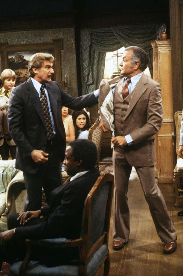 Episode 26 - Season Two - 9/14/78 After the trial, Burt (Richard Mulligan) and Chester (Robert Mandan) fought over who really killed Peter Chester. Jay Johnson (Chuck/Bob), Jennifer Salt (Eunice), Diana Canova (Corrine) and Robert Guillaume (Benson) also starred. (ABC/JIM BRITT)