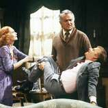 Episode 50 - Season Three - 9/27/79 Detective Donahue (John Byner, right) was shocked when Jessica (Katherine Helmond) chose Chester (Robert Mandan). (AMERICAN BROADCASTING COMPANIES, INC.)