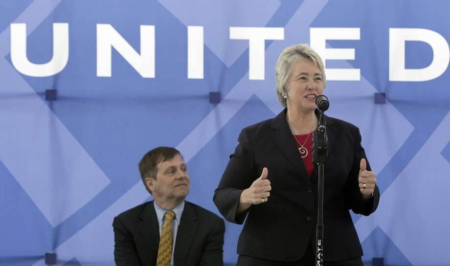 "Mayor Annise Parker hailed the terminal as ""a significant investment in the future of George Bush Intercontinental as a major international hub.\"""
