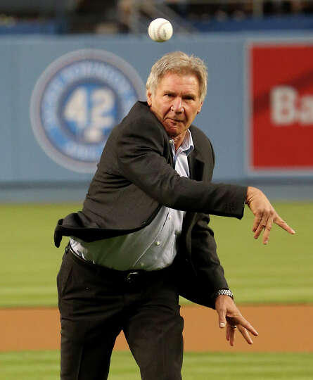 LOS ANGELES, CA - APRIL 15: Actor Harrison Ford, who plays Branch Rickey in the Jackie Robinson biog