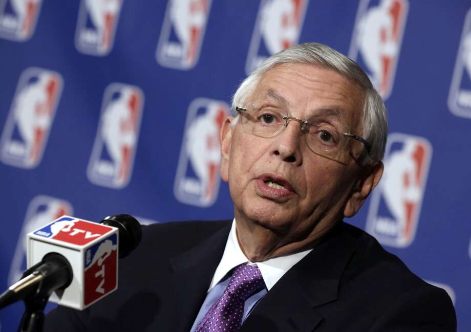 April 10, 2013: Chris Daniels of Seattle's KING/5 reports that NBA Commissioner David Stern has been working behind the scenes to find investors for the Sacramento group and bolster that city's bid to keep the NBA's Kings.  Photo: Richard Drew, Associated Press