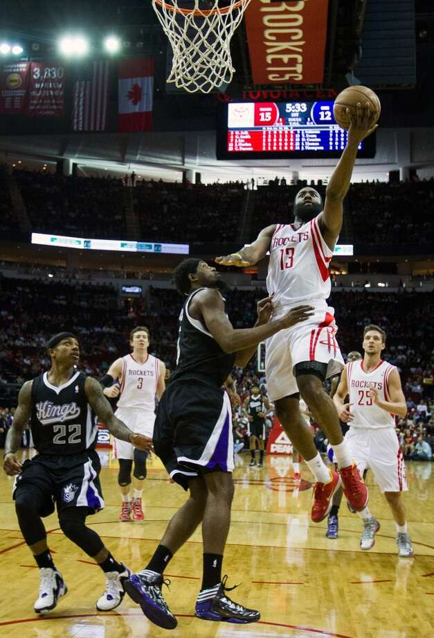 April 14: Rockets 121, Kings 100The Rockets took care of the Kings in the regular season home finale behind James Harden's 29 points. Record: 45-35. Photo: Smiley N. Pool , Houston Chronicle