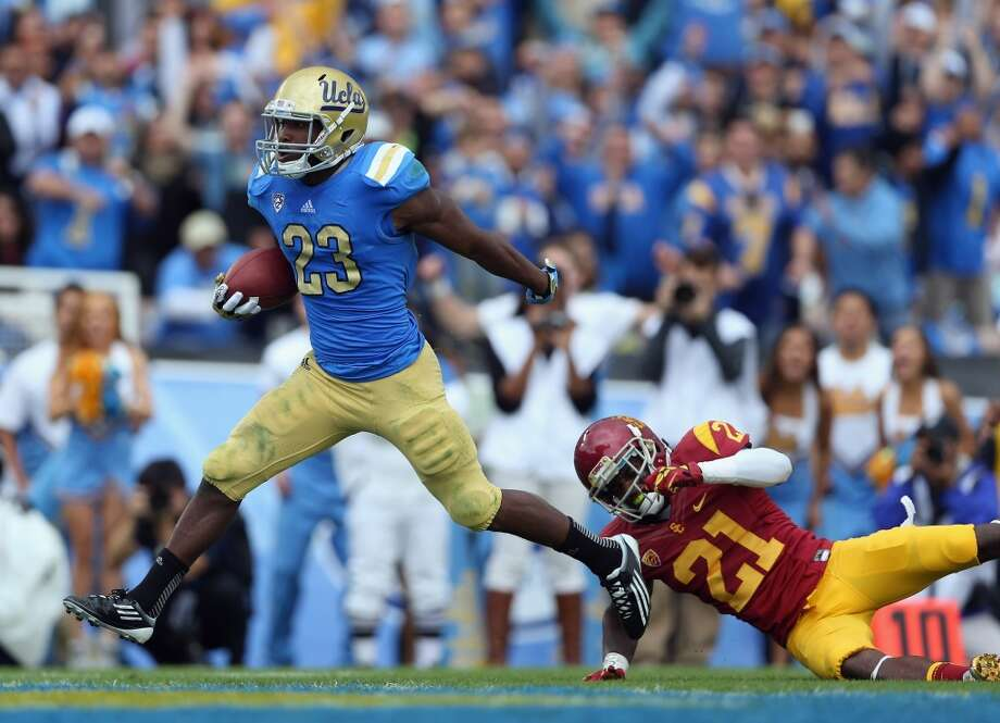 Johnathan Franklin, 5-10, 205, 4.46, UCLA The fastest of the top prospects and also the most elusive. He's a four-year starter who ran for 1,734 yards and scored 12 touchdowns last season. An excellent receiver who runs well after the catch. Runs between the tackles well for a player his size but also bounces outside in a hurry. Terrific balance. Should go in the second round.