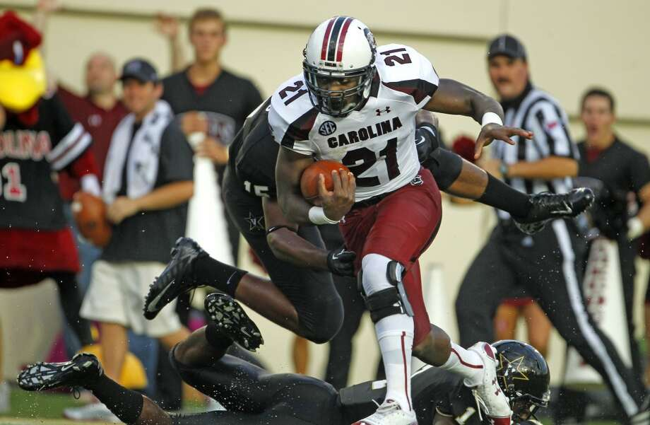 SleeperMarcus Lattimore, 5-11, 221, 4.62, South CarolinaHe wouldn't be a sleeper if he hadn't blown out a knee last season. If he hadn't been injured, he'd be a first-round pick. The team that takes him should give him plenty of time to recuperate. He's got good vision, excellent balance and an uncanny burst when he hits the hole. He should go in the fourth round.