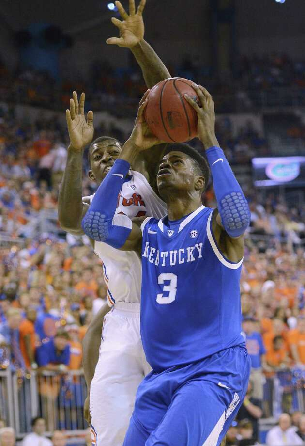 Nerlens Noel, who suffered a torn ACL last season, is leaving Kentucky after a year on campus. Photo: Phil Sandlin / Associated Press
