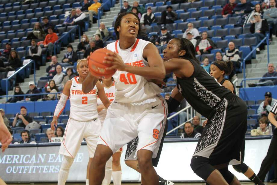 Kayla Alexander, selected by the Silver Stars with the eighth pick in Monday's draft, averaged 17.7 points and 8.7 rebounds a game for Syracuse last season. Photo: Bob Stowell / Getty Images
