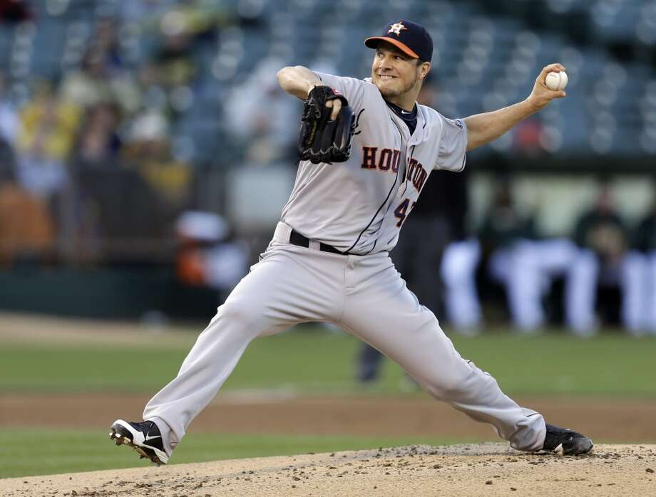 Erik Bedard works against the Athletics in the first inning. Photo: Ben Margot, Associated Press