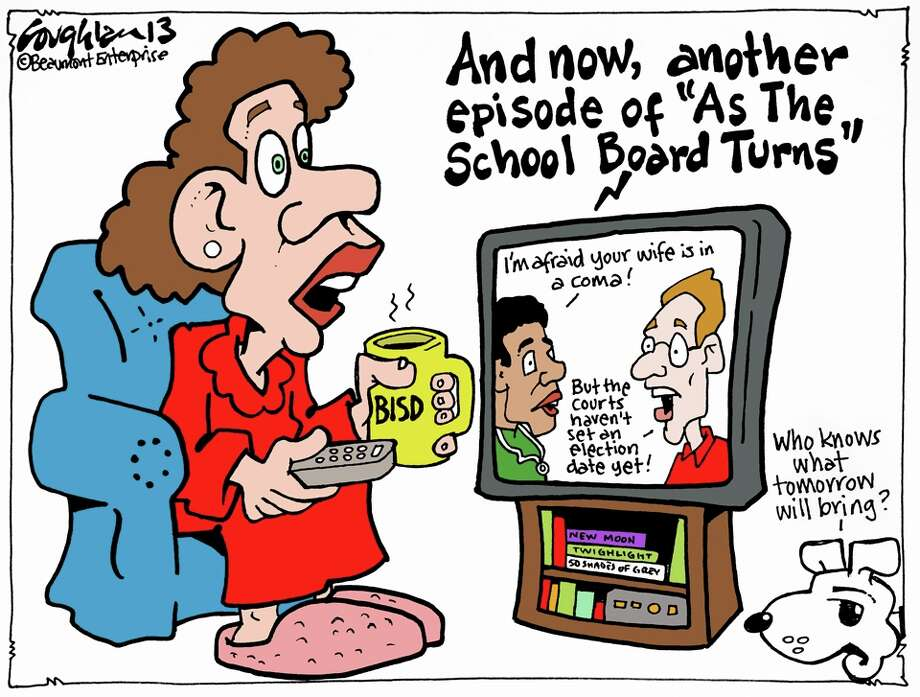 Andy Coughlan's cartoon for Sunday, April 14, 2013.