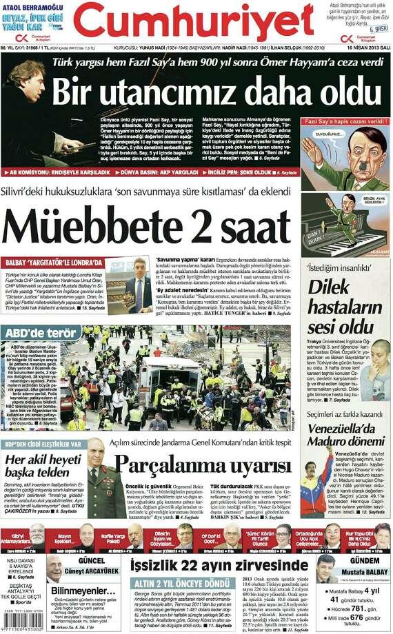 Cumhuriyet, Istanbul. Photo: Newseum.org