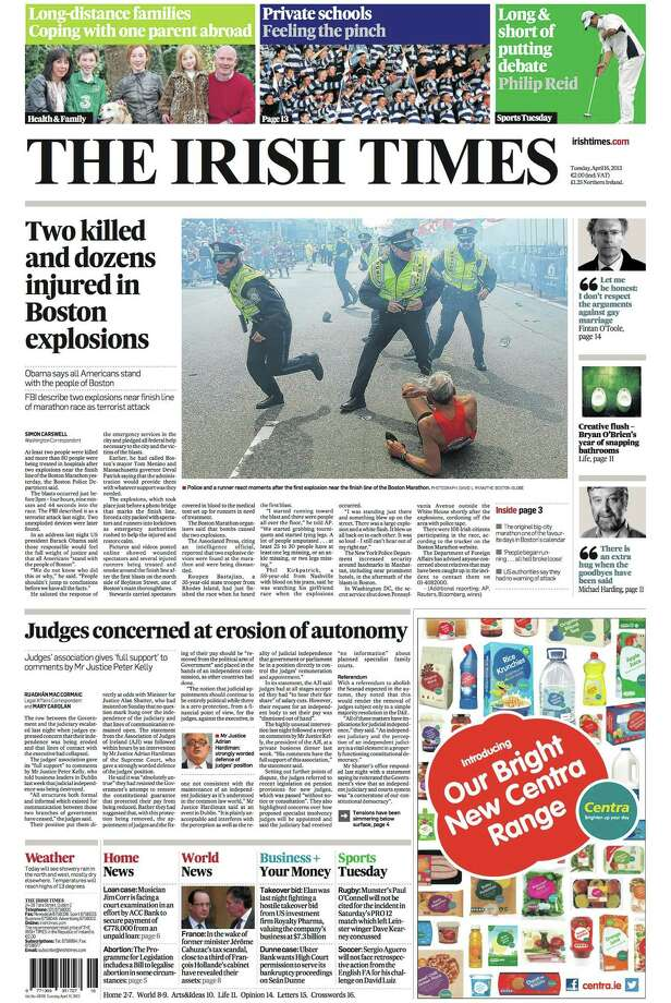 The Irish Times, Dublin. Photo: Newseum.org